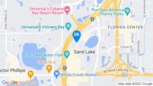 Avanti Palms Resort and Conference Center Map