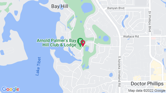 Arnold Palmer's Bay Hill Club & Lodge Map