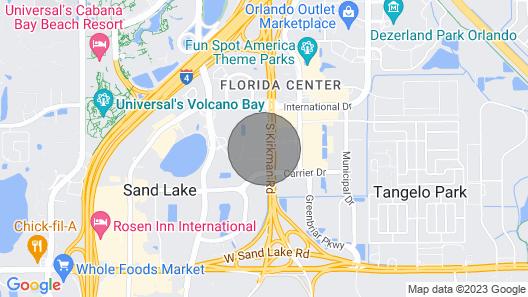 Universal Studios /Large 2 Queen Beds Hotel + Parking Map