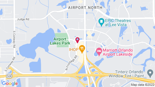 Courtyard by Marriott Orlando Airport Map