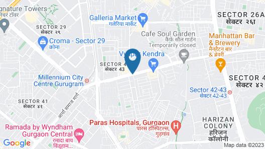 Courtyard by Marriott Gurugram Downtown Map