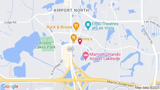 Hampton Inn Orlando-International Airport Map