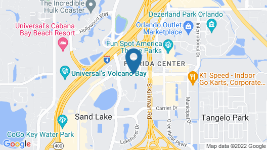 Four Points by Sheraton Orlando International Drive Map