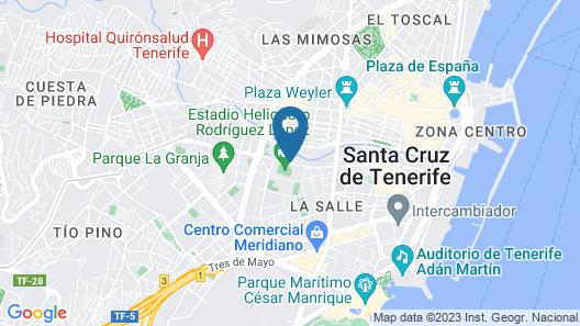 Hotel Escuela Santa Cruz Map