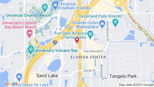Wyndham Garden Orlando Universal / I Drive Map