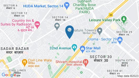 Qcent Gurgaon by Pacific Inn Map