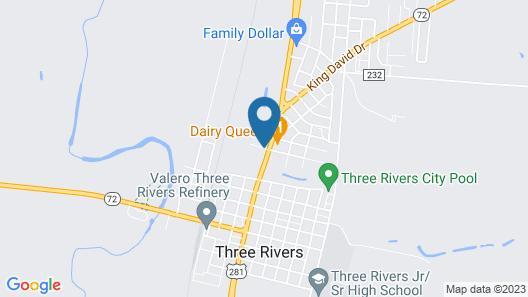 Three Rivers Inn & Suites Map