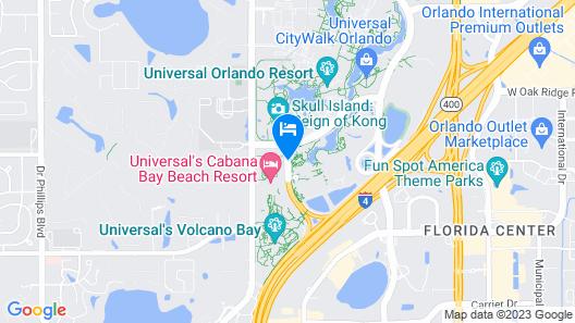 Universal's Loews Sapphire Falls Resort Map