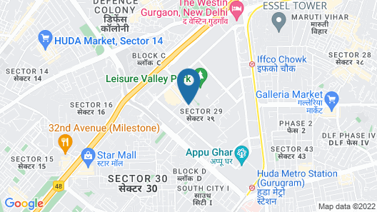 Lemon Tree Premier 1, Gurugram Map