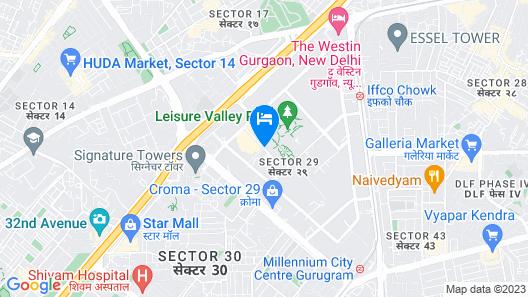 Crowne Plaza Hotel Gurgaon, an IHG Hotel Map