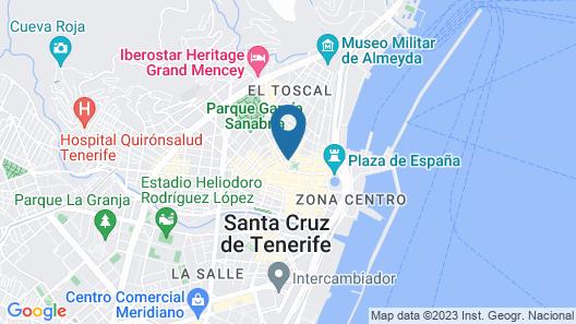 Sercotel Príncipe Paz Hotel Map