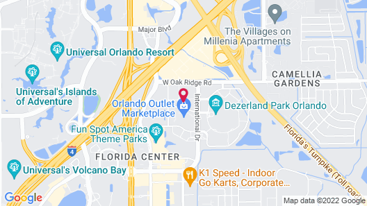 TownePlace Suites by Marriott Orlando Southwest Near Universal Map