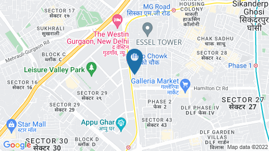 Asian Suites A 585 IFFCO Metro station Map
