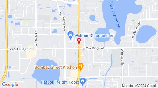 Knights Inn Orlando Map