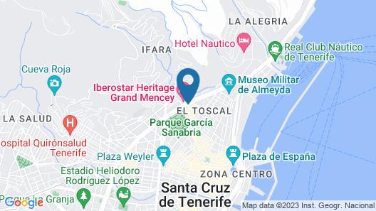 Occidental Santa Cruz Contemporáneo Map