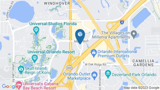 Hyatt House across from Universal Orlando Resort  Map