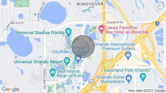 2 Bedroom 2 Bathroom King Garden View Suite @ Universal's Hard Rock Hotel Map