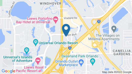 Holiday Inn & Suites Across From Universal Orlando, an IHG Hotel Map