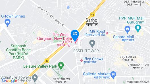 The Westin Gurgaon, New Delhi Map