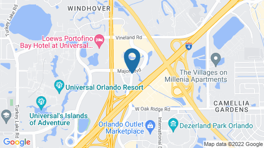 Clarion Inn & Suites Across From Universal Orlando Resort Map