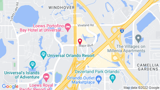 DoubleTree by Hilton at the Entrance to Universal Orlando Map