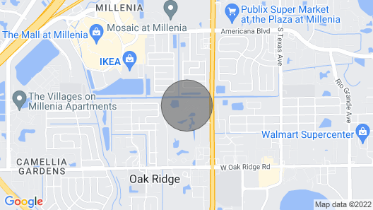 Affordable and Near Orlando Attractions Map