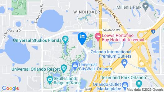 Universal's Loews Portofino Bay Hotel Map