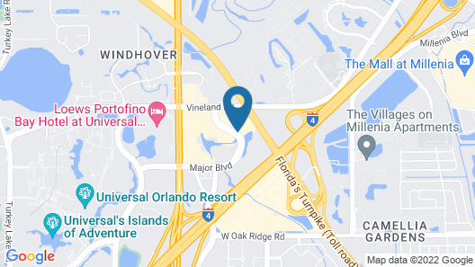 La Quinta Inn & Suites by Wyndham Orlando Universal area Map