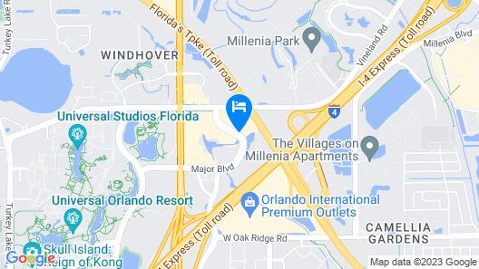 La Quinta Inn & Suites by Wyndham Orlando Universal area Map