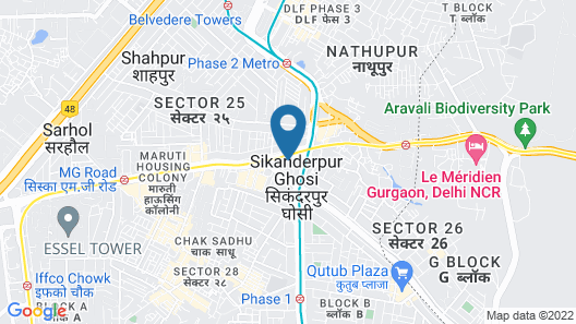 Maxfort Sikandarpur Metro Map