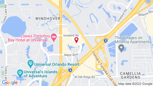 Extended Stay America - Orlando Theme Parks - Major Blvd. Map