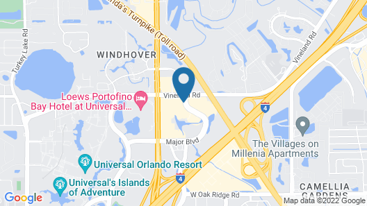 Extended Stay America Suites Orlando Theme Parks Vineland Rd Map