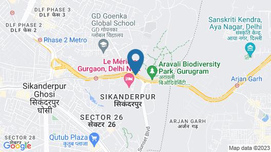 Le Méridien Gurgaon, Delhi NCR Map