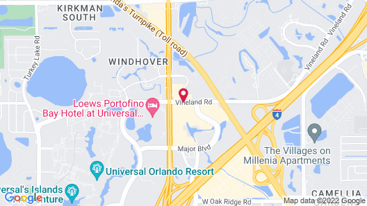 Fairfield Inn & Suites by Marriott Near Universal Orlando Map