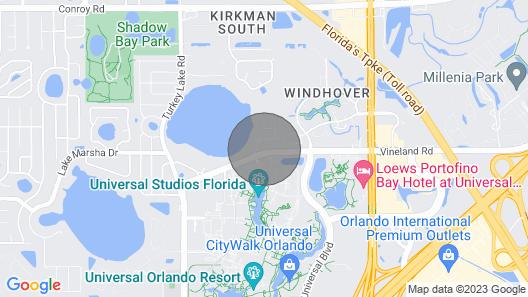 Modern Florida Ranch Home Map