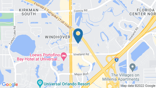 Hampton Inn closest to Universal Orlando Map