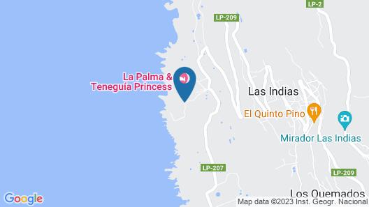 La Palma & Teneguia Princess Vital & Fitness Map