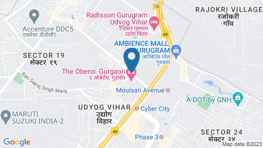 The Oberoi Gurgaon Map