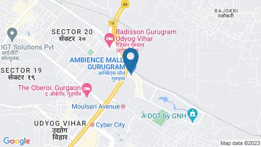 The Leela Ambience Hotel & Residences, Gurugram Map