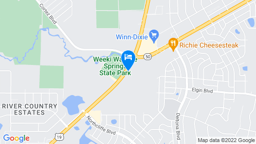 Motel 6 Spring Hill, FL - Weeki Wachee Map