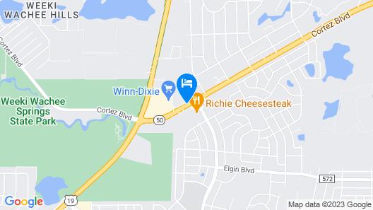 Quality Inn Weeki Wachee Map