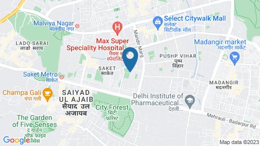 Sheraton New Delhi Hotel Map