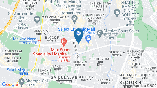 Hilton Garden Inn New Delhi/Saket Map