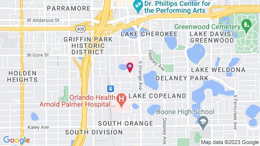 Hampton Inn & Suites Orlando/Downtown South - Medical Center Map