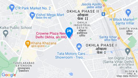 Crowne Plaza Hotel New Delhi Okhla Map