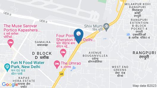 The Roseate New Delhi Map