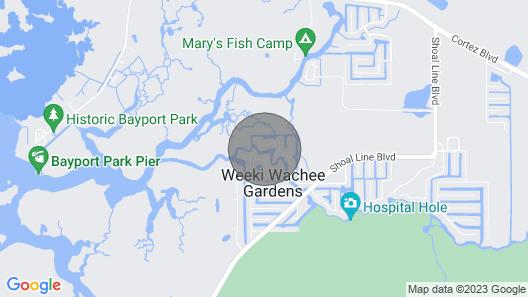 Come Stay On Weeki Wachee! Kayaks, Canoe Included! Map