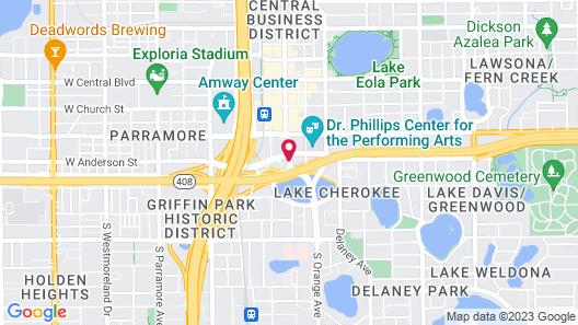 Aloft Orlando Downtown Map
