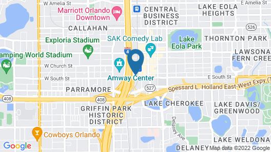 AC Hotel by Marriott Orlando Downtown Map