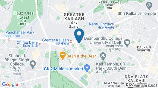 Anara Homes and Villas - GK II Map